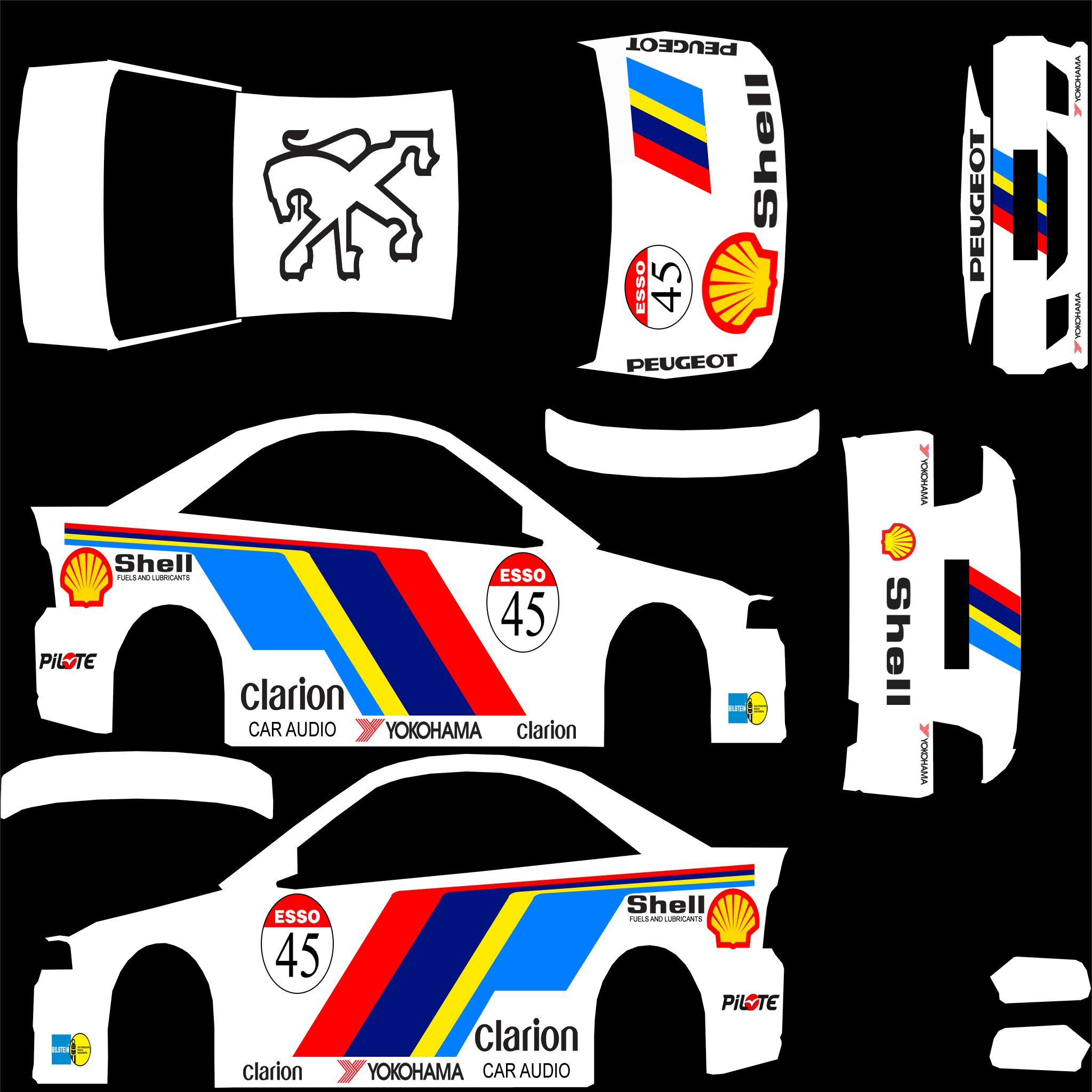FXO BTCC Peugeot Livery Bean0 Car Skins For Live
