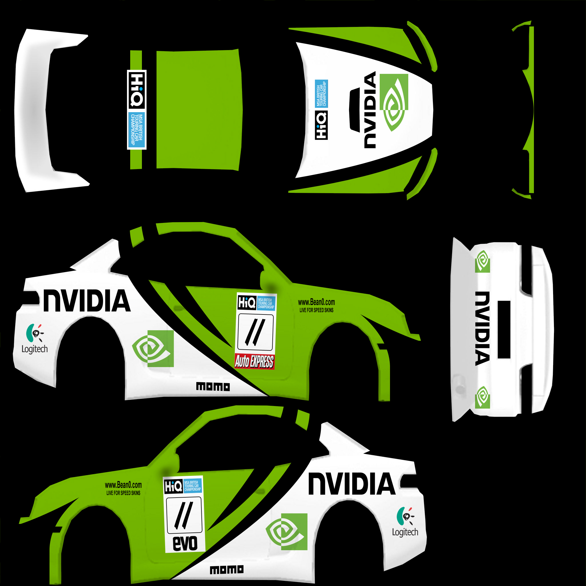 Rb4 Gt 171 Bean0 Com Car Skins For Live For Speed Assetto