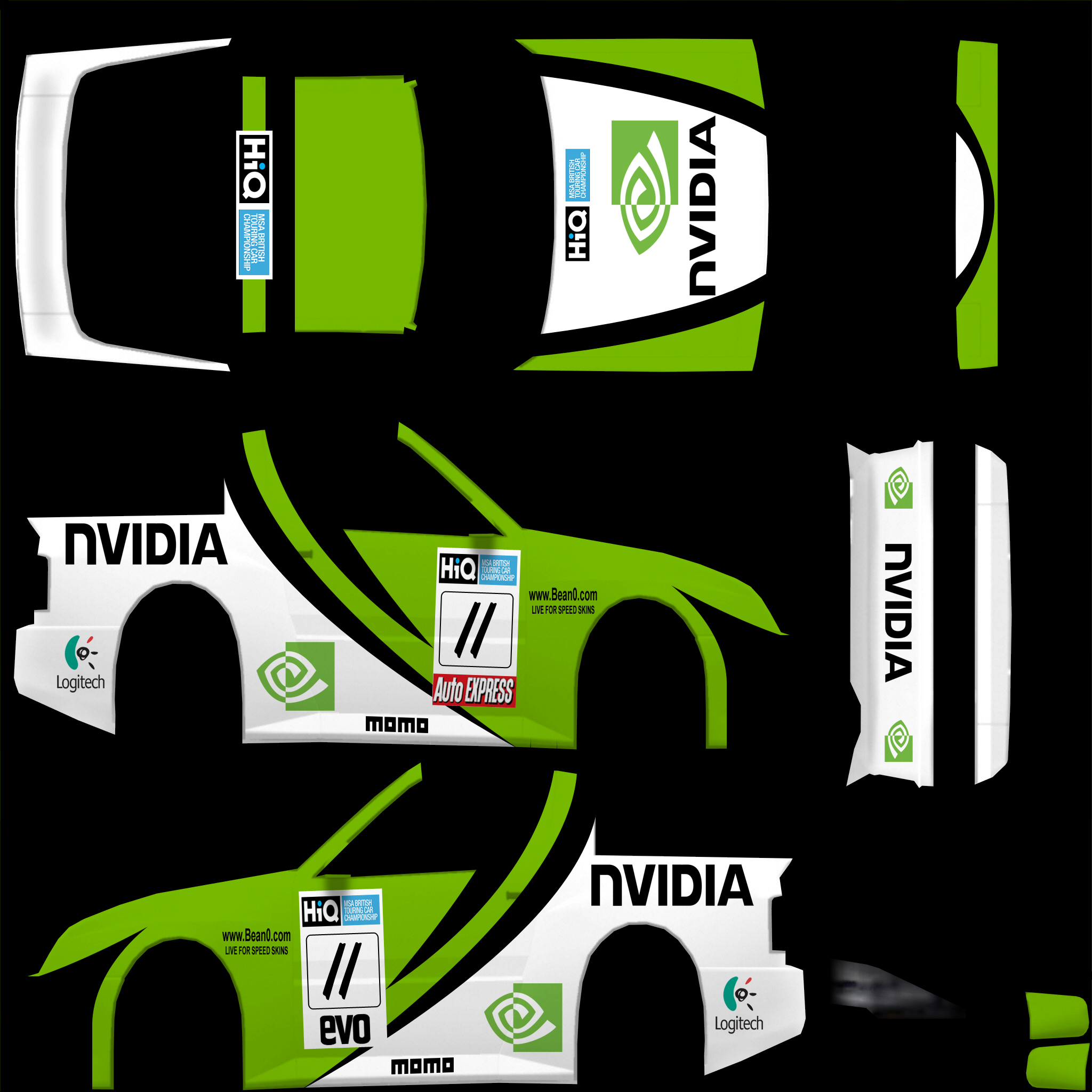 XRT Nvidia Livery « Bean0 com – Car skins for Live for Speed